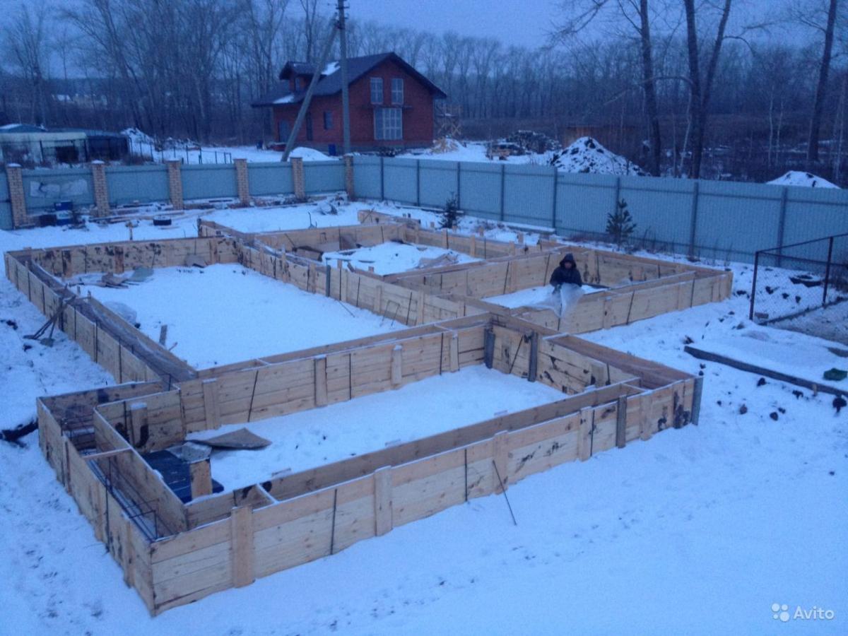 Фундамент своими руками в зимний период