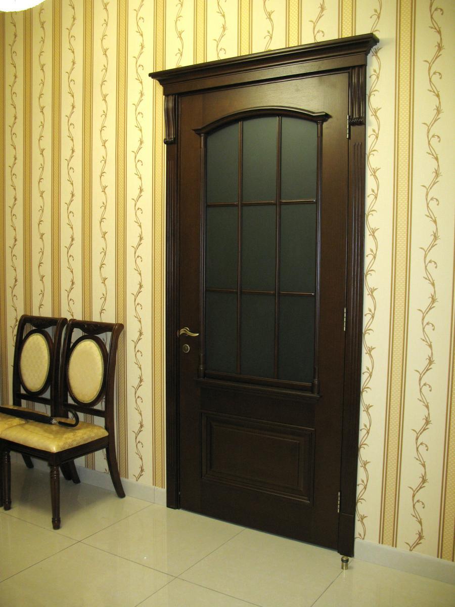 Дверь Лилия 4, ДО, мореный дуб, беленый дуб