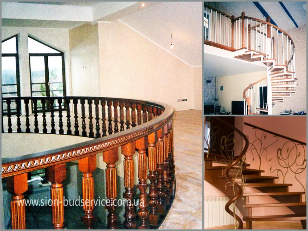 Изготовление деревянных лестниц на заказ в Москве, монтаж